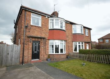 Thumbnail 3 bed semi-detached house for sale in Cambo Avenue, Whitley Bay