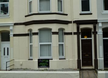 Thumbnail 4 bed flat to rent in Flat 2, Room 1 - Lipson Road, Plymouth