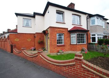 Thumbnail 4 bed semi-detached house for sale in Derham Gardens, Upminster