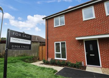 Thumbnail 3 bedroom end terrace house for sale in Bowling Green Close, Bletchley, Milton Keynes