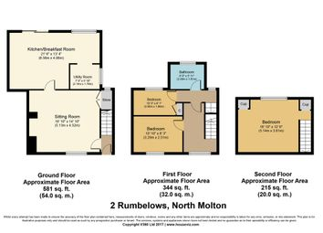 Thumbnail 3 bed terraced house for sale in East Street, North Molton, South Molton