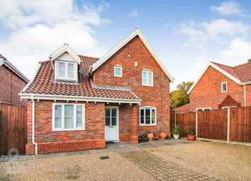 Thumbnail 4 bed detached house for sale in Mill Road, Barnham Broom, Norwich