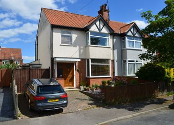 Thumbnail 3 bedroom semi-detached house for sale in Cowley Road, Felixstowe