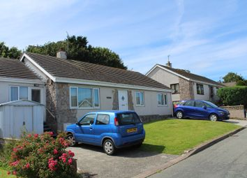 Thumbnail 4 bed detached bungalow for sale in Garreglwyd Park, Holyhead