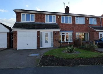 Thumbnail 4 bed semi-detached house for sale in Long Furrow, East Goscote, Leicester, Leicestershire