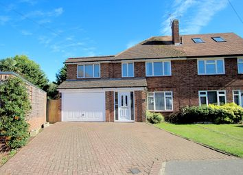 Thumbnail 5 bed semi-detached house for sale in Elliott Gardens, Shepperton