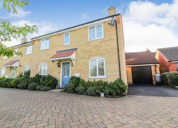 Thumbnail 3 bed semi-detached house for sale in Saltcote Way, Bedford