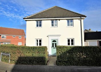 Thumbnail 3 bed detached house for sale in Churchfields Road, Long Stratton, Norwich