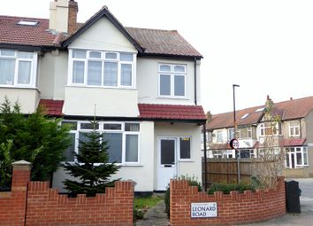 Thumbnail 3 bed end terrace house for sale in Leonard Road, Streatham
