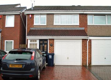 Thumbnail 3 bed semi-detached house for sale in Seaton Close, Gateshead