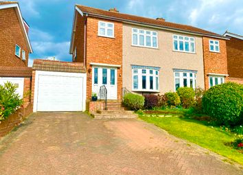 Thumbnail 3 bed semi-detached house for sale in Arlington Gardens, Harold Wood, Romford
