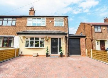 Thumbnail 3 bedroom semi-detached house for sale in Brackley Avenue, Cadishead, Manchester, Greater Manchester