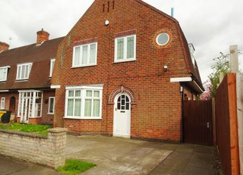 Thumbnail 3 bed town house for sale in Brading Road, Leicester
