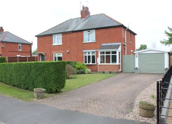 Thumbnail 3 bed semi-detached house for sale in Manor Road, Swinderby
