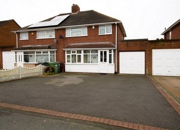 Thumbnail 3 bed semi-detached house for sale in Belton Avenue, Wednesfield, Wolverhampton, West Midlands