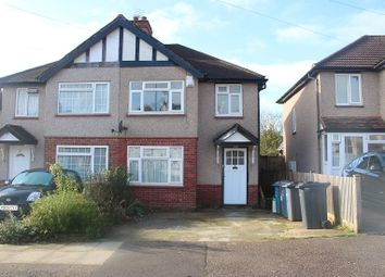 Thumbnail 3 bed semi-detached house to rent in Clewer Crescent, Harrow