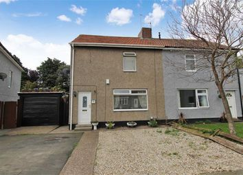 Thumbnail 2 bed semi-detached house for sale in Park Crescent, Shiremoor, Newcastle Upon Tyne