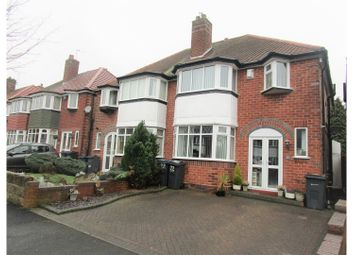 Thumbnail 3 bedroom semi-detached house for sale in Farnol Road, Birmingham