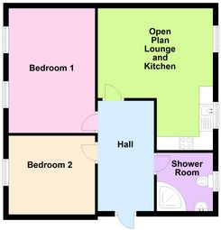 Thumbnail 2 bed flat to rent in High Street, Croydon, Surrey