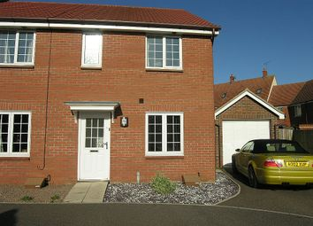 Thumbnail 3 bed terraced house to rent in Spindler Close, Kesgrave, Ipswich