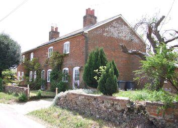 Thumbnail 3 bedroom semi-detached house for sale in Farnham Road, Blaxhall, Woodbridge