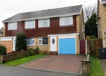Thumbnail 3 bed semi-detached house for sale in Pegwell Close, Hastings, East Sussex