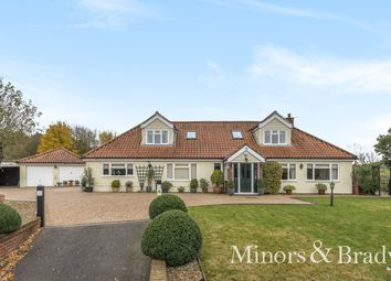Thumbnail 5 bed detached bungalow for sale in Brooke Road, Shotesham All Saints, Norwich