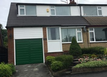 Thumbnail 3 bed semi-detached house to rent in Ricroft Road, Compstall, Stockport