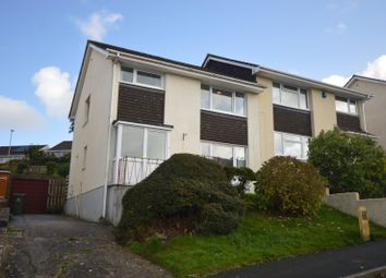 Thumbnail 4 bed semi-detached house for sale in Holcombe Drive, Plymouth, Devon