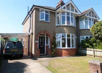 Thumbnail 3 bedroom semi-detached house to rent in Westbury Road, Ipswich