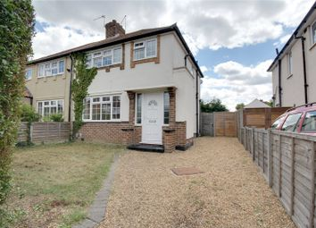 Thumbnail 3 bed semi-detached house for sale in Hazel Grove, Staines-Upon-Thames, Surrey
