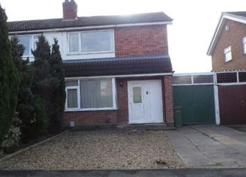 Thumbnail 3 bed semi-detached house to rent in Lichfield Drive, Blaby, Leicester