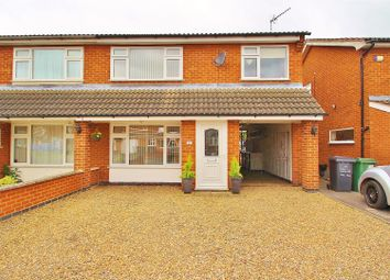 Thumbnail 3 bed semi-detached house for sale in The Meadows, East Goscote, Leicestershire