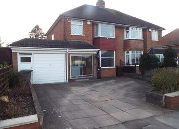 Thumbnail 3 bed property for sale in Windsor Drive, Solihull, West Midlands
