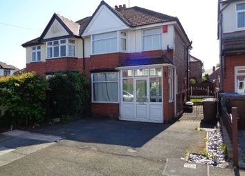 Thumbnail 3 bed semi-detached house to rent in Lynton Drive, Prestwich, Manchester