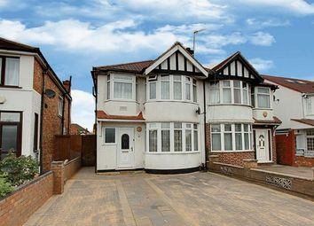 Thumbnail 3 bed semi-detached house for sale in Runnymede Gardens, Western Avenue, Greenford