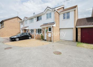 Thumbnail 4 bed semi-detached house for sale in Nobles Close, Whittlesey, Peterborough