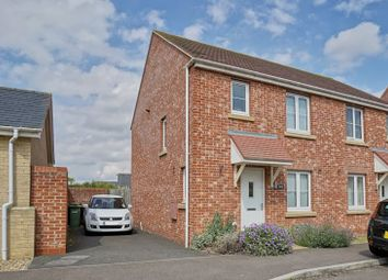 Thumbnail 3 bed semi-detached house for sale in Belland Hill, Eynesbury, St. Neots