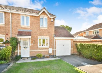 Thumbnail 3 bed semi-detached house for sale in Loveridge Close, Swindon