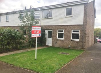 Thumbnail 3 bed end terrace house to rent in Duchess Close, Eaton Socon, St. Neots