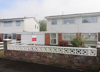 Thumbnail 3 bed semi-detached house for sale in Greenfield Gardens, Pentrebach, Merthyr Tydfil