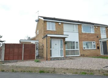 Thumbnail 3 bed semi-detached house for sale in Sonning Way, Glen Parva, Leicester