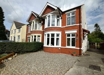 Thumbnail 4 bed semi-detached house for sale in Cae Mawr Road, Rhiwbina, Cardiff.