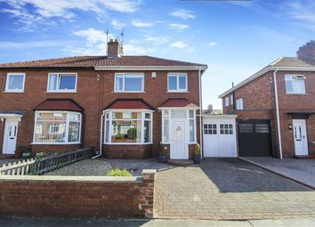 Thumbnail 3 bed semi-detached house for sale in Foxton Avenue, North Shields, Tyne And Wear