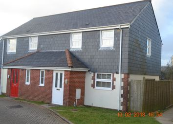 Thumbnail 2 bed semi-detached house to rent in Farmers Close, East Taphouse, Liskeard
