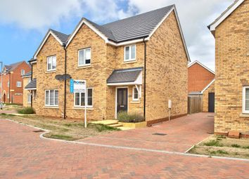 Thumbnail 3 bed semi-detached house for sale in Keeley Croft, New Cardington, Beds