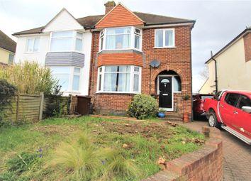 Thumbnail 3 bed semi-detached house for sale in Lower Farnham Road, Aldershot, Hampshire
