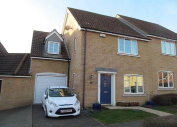 Thumbnail 4 bedroom semi-detached house for sale in Cormorant Drive, Stowmarket