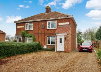 Thumbnail 2 bed semi-detached house for sale in Chapel Road, Spooner Row, Wymondham