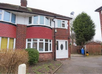 Thumbnail 3 bedroom semi-detached house for sale in Alcester Avenue, Stockport